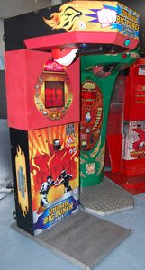 Boxer punching bag arcade machine